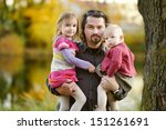young father and his little... | Shutterstock . vector #151261691