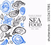 oysters and spices design... | Shutterstock .eps vector #1512617081