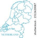 netherlands map blue color... | Shutterstock .eps vector #1512620087