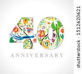 40 years old logotype. 40 th...   Shutterstock .eps vector #1512620621