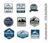 set badges mountain adventure... | Shutterstock .eps vector #1512620624