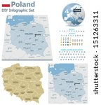 Poland maps with markers