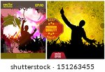 abstract music background.... | Shutterstock .eps vector #151263455