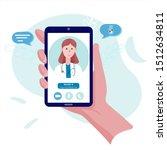 call online doctor. virtual...   Shutterstock .eps vector #1512634811