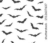 seamless pattern with bats on... | Shutterstock .eps vector #1512637637