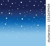 snow falling on the night... | Shutterstock .eps vector #1512639434