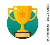 winner's trophy icon. the... | Shutterstock .eps vector #1512642887