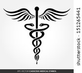 caduceus   medical vector icon | Shutterstock .eps vector #151265441
