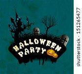happy halloween party poster ... | Shutterstock .eps vector #151265477