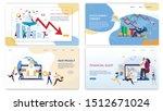 stock market crash  finance... | Shutterstock .eps vector #1512671024