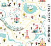 seamless pattern cards of the... | Shutterstock .eps vector #1512676694
