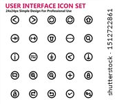 ui user interface icon set...