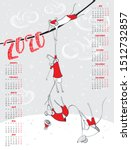2020 calendar with funny mice ...   Shutterstock .eps vector #1512732857