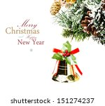 christmas card with  golden...   Shutterstock . vector #151274237