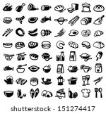 Vector Black Food Icon Set On...