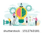 brainstorming creative idea ... | Shutterstock .eps vector #1512763181