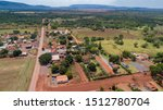 Aerial View Of The Small Rural...