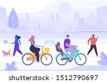 fresh air recreation flat... | Shutterstock .eps vector #1512790697