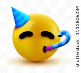 party face emoji   yellow face... | Shutterstock .eps vector #1512806234