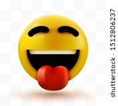 emoji 3d smiling face with... | Shutterstock .eps vector #1512806237