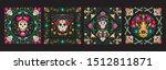 vector dia de los muertos  day... | Shutterstock .eps vector #1512811871