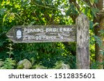 Signpost Showing The Pennine...