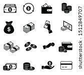 set of money related vector... | Shutterstock .eps vector #1512849707