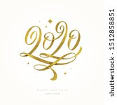 2020 year logo. new year...   Shutterstock .eps vector #1512858851