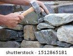 Close Up Shot Of A Stonemason...