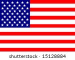 american flag waving in the wind | Shutterstock . vector #15128884