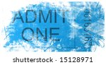 new admit one ticket for event | Shutterstock . vector #15128971
