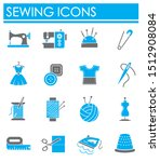 sewing related on background... | Shutterstock . vector #1512908084