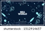 sea life panoramic background... | Shutterstock .eps vector #1512914657