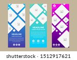 gradient blue purple square... | Shutterstock .eps vector #1512917621