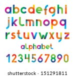 colorful vector font and...   Shutterstock .eps vector #151291811