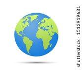 earth globe isolated on white... | Shutterstock .eps vector #1512919631