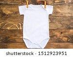 Mockup Of White Baby Bodysuit...
