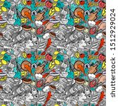 vector seamless pattern with... | Shutterstock .eps vector #1512929024