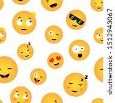 emoticons seamless texture... | Shutterstock .eps vector #1512943067