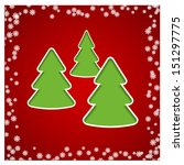 red christmas card with paper... | Shutterstock . vector #151297775