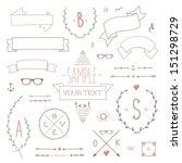 Set of hipster vintage design elements | Shutterstock vector #151298729