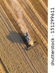 aerial view of combine on...   Shutterstock . vector #151299611