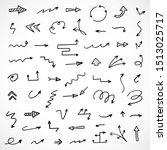 vector set of hand drawn arrows | Shutterstock .eps vector #1513025717