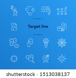 targeting icon set. line icons... | Shutterstock .eps vector #1513038137