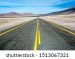 American Empty Desert Asphalt...