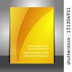 flyer graphic design elegant of ... | Shutterstock .eps vector #151306931