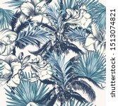 elegant vector tropical pattern ... | Shutterstock .eps vector #1513074821
