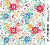 amazing seamless floral pattern ...   Shutterstock .eps vector #1513087484