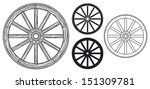 old wooden wheel | Shutterstock .eps vector #151309781