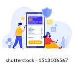 online payment with mobile... | Shutterstock .eps vector #1513106567